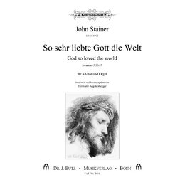 So sehr liebt Gott die Welt - God so loved the world....